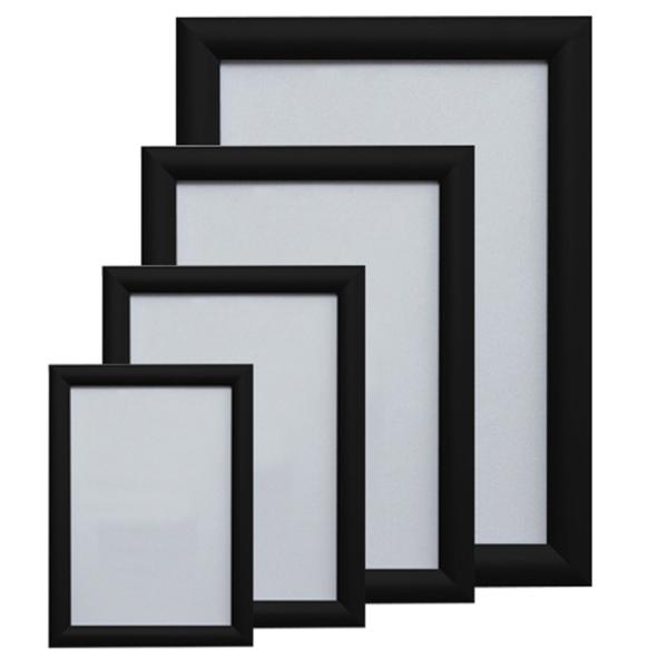 Ramă poster click 25mm neagră (A2)