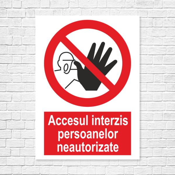 Autocolante şi plăcuţe indicatoare – semne de interdicţie, model portrait