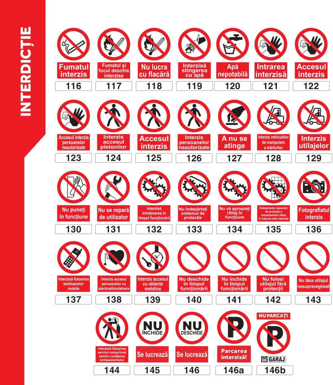 Autocolante şi plăcuţe indicatoare - semne de interdicţie, model portrait