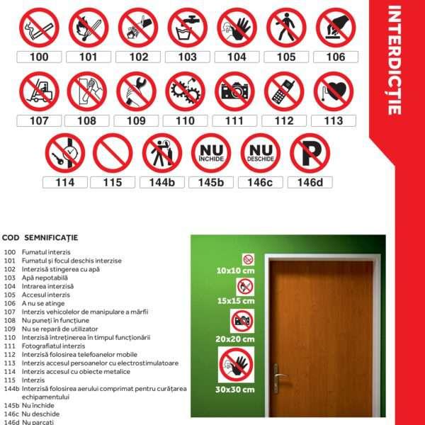 Autocolante şi plăcuţe indicatoare - semne de interdicţie, model pătrat